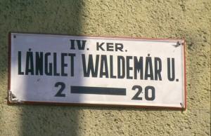 Gata i Budapest uppkallad efter Valdemar Langlet.