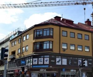 Hörnhuset på Vaksalagatan 14.  Foto: Uppsala kommun