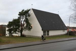 Eriksbergskyrkan, Eriksbergsvägen 2, 1960. Foto: Johan Dellbeck, Upplandsmuseet