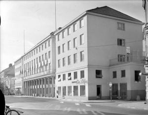 Folkets hus och Uppsala stadsteater, okänt datum. Foto: Gunnar Sundgren