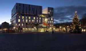 Uppsala konsert & kongress kvällstid. Foto: Bo Gyllander