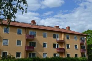 Bostadshus på Artillerigatan 1 i Kåbo.  Foto: Uppsala kommun