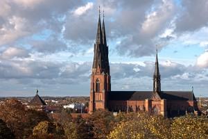 Uppsala domkyrka idag.  Foto: David Castor