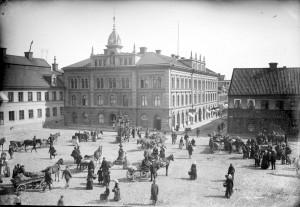 Rådhuset, troligtvis 1890-tal. Foto: Henri Osti