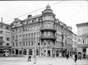 Strandbergska huset, 1945.  Foto: Paul Sandberg