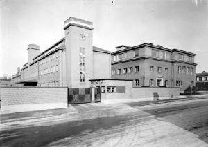 Del av fabriken i kvarteret Noatun, okänt datum. Foto: Östlings foto