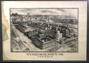Tavla med översikt över Nymans anläggning i kvarteret Noatun. Foto: Upplandsmuseet